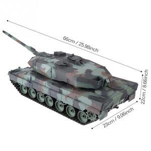 Image 3 - הנג ארוך 2.4GHz RC נמר טנק 1/16 שלט רחוק גרמנית נמר 2 A6 קרב טנק העולם סימולציה קול טנק דגם צעצוע