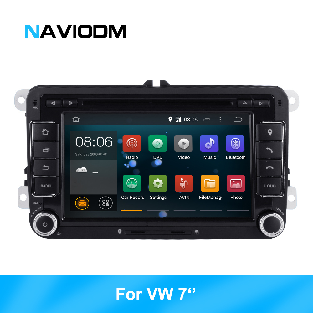 CarAudioMultimedia player Android 8.1 GPS 2 Din For Volkswagen/Golf/Tiguan/Skoda/Fabia/Rapid/Seat/Leon/Skoda car audio GPS  DVD