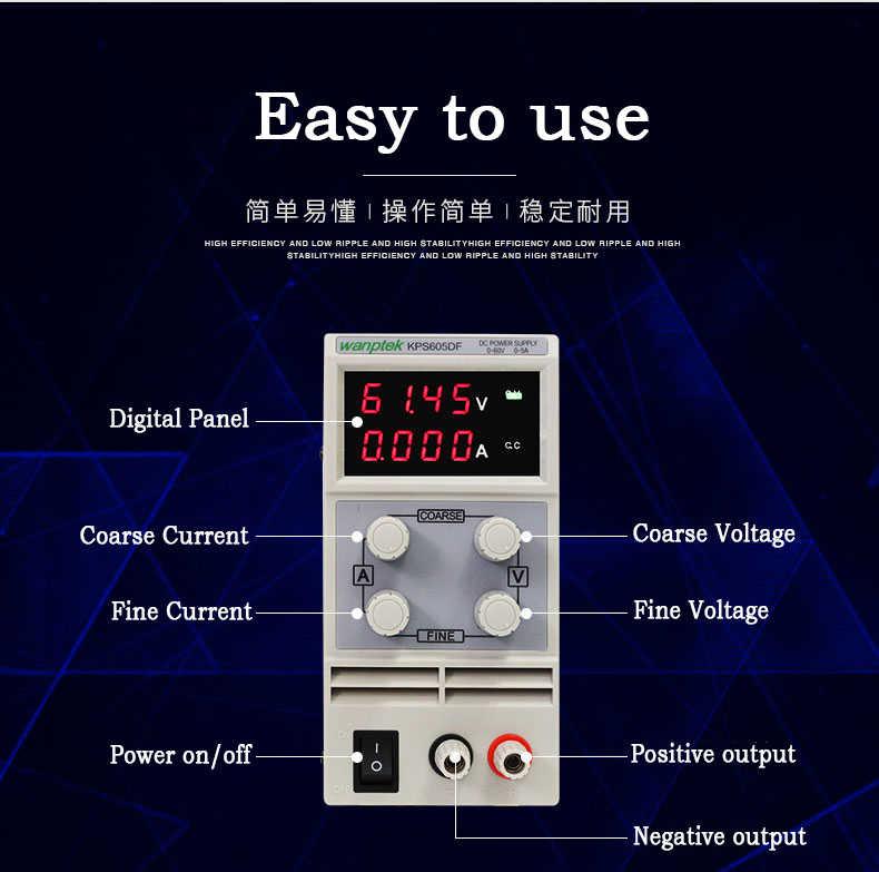 DC Power Supply Transformers Digital Variable Mini Adjustable Voltage  regulator Three display Power Supply PS3010D Transformer