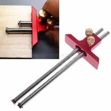 Marcador de carpintería de doble cabeza, herramienta de regla de indicador de marcado de doble línea para carpintería, A27 19