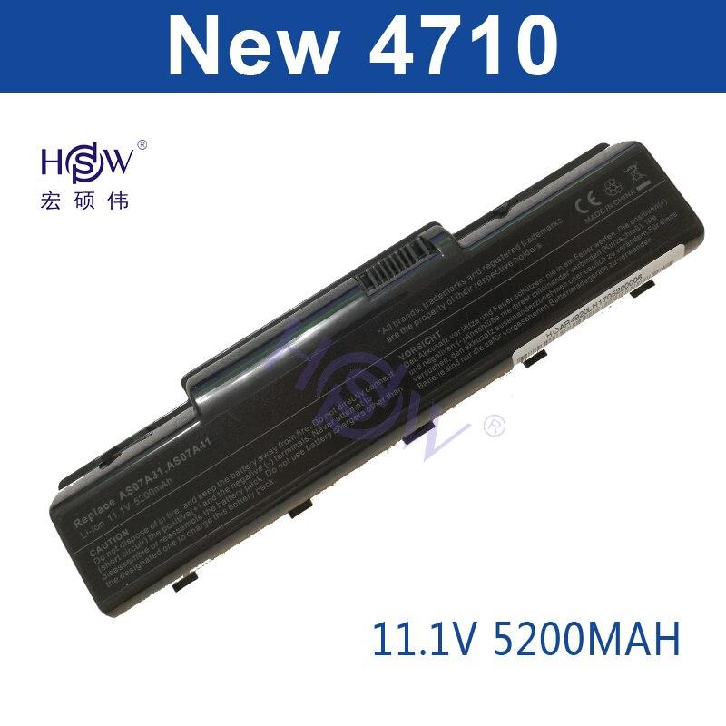 HSW 5200MAH Laptop Battery for Acer Aspire 4710 4720 5335Z 5338 5536 5542 5542G 5734Z 5735 5740G 7715Z 5737Z 5738 Bateria accu