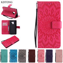 KDTONG Case For Coque Samsung Galaxy A8 2018 Case Luxury Flip Wallet Leathe Cover For Fundas Samsung Galaxy A8 Plus 2018 Case