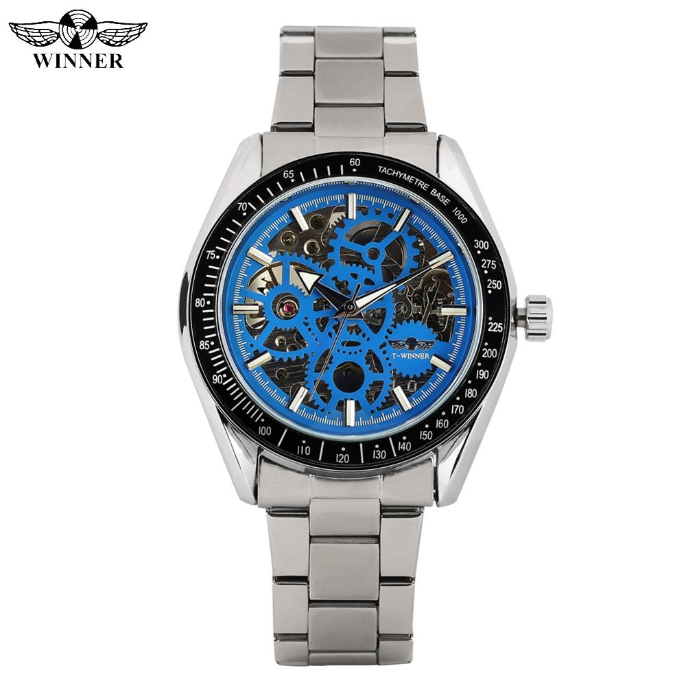 Fashion Automatic self winding Mechanical Watches for Male Business Stainless Steel Band Mechanical Bracelet Wrist Watch for Boy|Lover's Watches| |  - title=