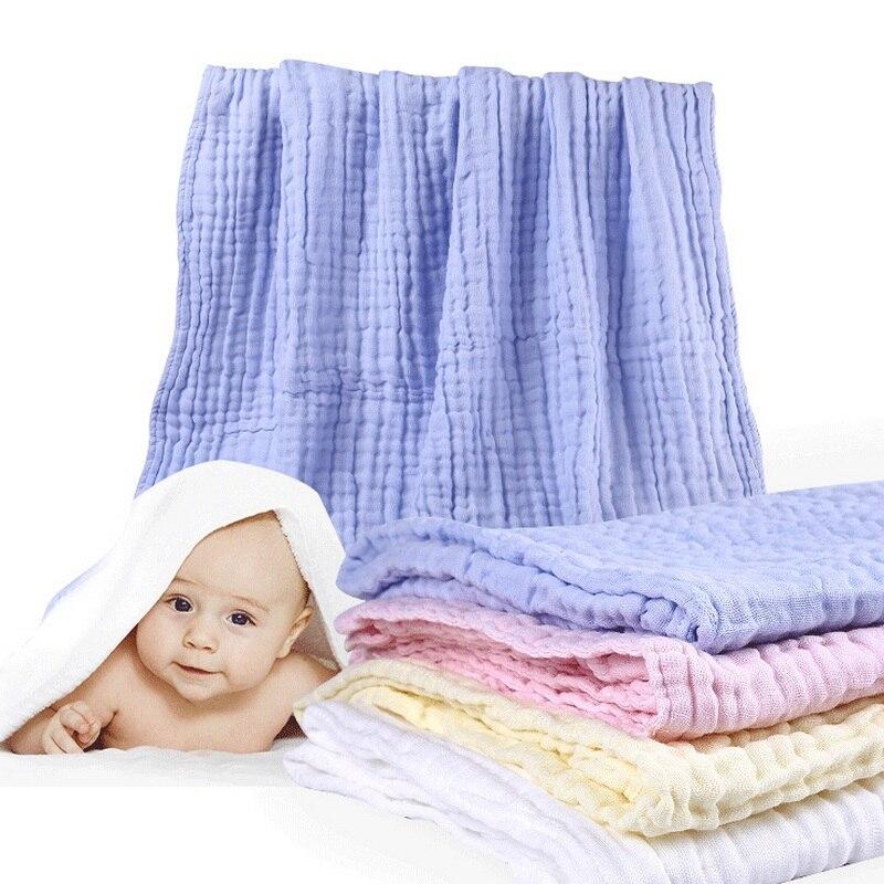 2017 New Baby Newborn Bath Towel Swaddle Muslin Six Layers Gauze Blankets Bedding Skincare Wipe Bathrobe Super Soft 105*105cm