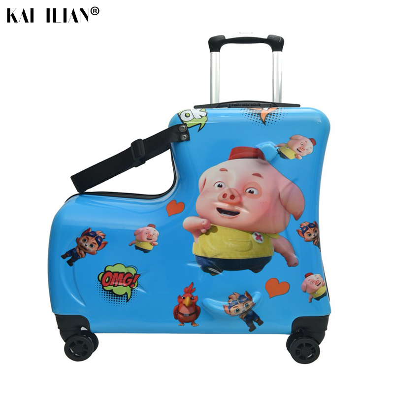 children suitcase with wheels carry-ons rolling luggage Cute Can sit to ride travel trolley suitcase kid baby gift Trunk box bagchildren suitcase with wheels carry-ons rolling luggage Cute Can sit to ride travel trolley suitcase kid baby gift Trunk box bag