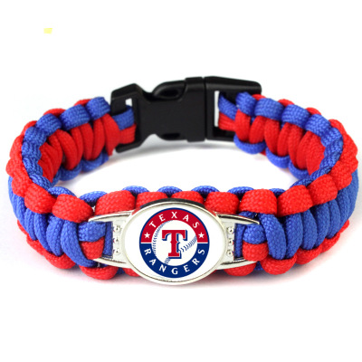 Sport Baseball Texas Rangers Jewelry Bracelet America Sport Team Charm Bangle Jewelry Umbrella Braided For Fans G