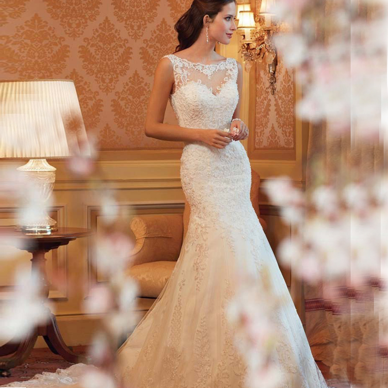 2016 Cheap Lace Mermaid Wedding Dress Country Western