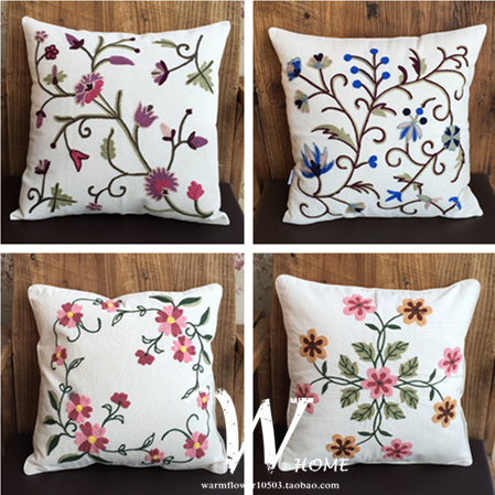 Factory Direct Decorative Throw Pillows Ikea 45 45cm 100 Cotton Hand Embroidery More