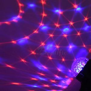 Image 2 - Lampe disco RGB boule magique LED, éclairage décoratif de scène, USB, Center de musique pour la maison, éclairage de scène, Stroboscopes et son fête