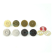 10pcs 14mm Mix 4 Colors Thin Magnetic Clasp Purse Snaps Closures Round Sewing Button Bag Press Studs