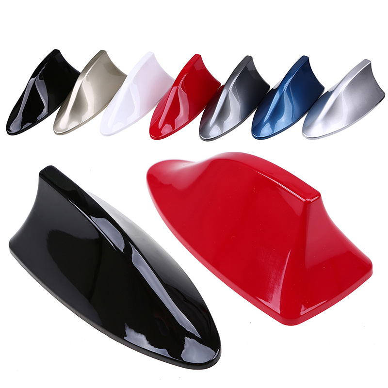 Universal Car Roof Shark Fin Decorative Aerial Antenna Cover Sticker Base Roof Carbon Fiber Style For All Car Models