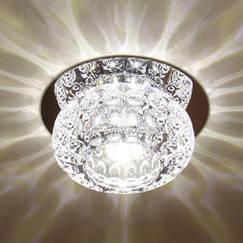 3W modern crystal ceiling light decorative living room crystal ceiling lamp corridor light aisle lighting