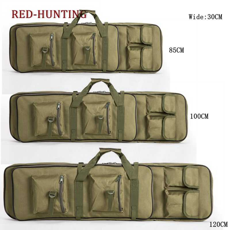 Outdoor Airsoft 85 100cm Gun Bag Case Rifle Backpack Military Hunting Dual Rifle Bag case Square Carry Bags Gun Accessories
