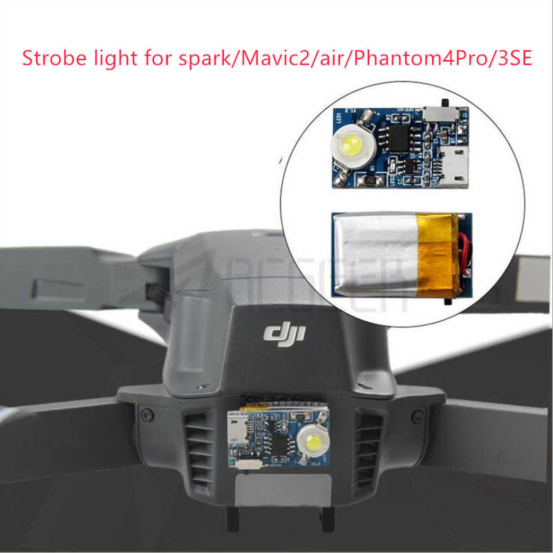 Detail Feedback Questions about DJI Flash Strobe Lamp Night