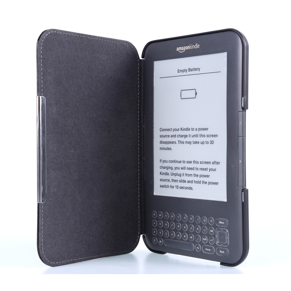 Flip Book Case For Amazon Kindle 3 3Rd Gen Ereader Leather Pocket Magnetic  Closured Kindle Keyboard (3Rd Gen) Pouch+Film+Pen