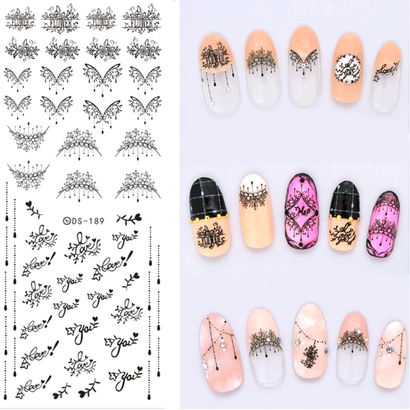 Nail Art Sticker Adesivo Unhas Water Transfer Sticker Wraps Stickers for Nails Design Fingernails Tattoo Decals Manicure ZJT029 2016 cartoon design nail art manicure tips water transfer nail stickers paradise vacation desgins nails wraps collections decor