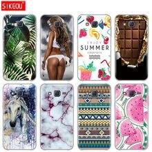 SIKEOU Caso TPU Macio Para Samsung Galaxy J5 SM-J500F Silicone Caso Telefone para Samsung J5 2015 Tampa verde folhas bonito engraçado