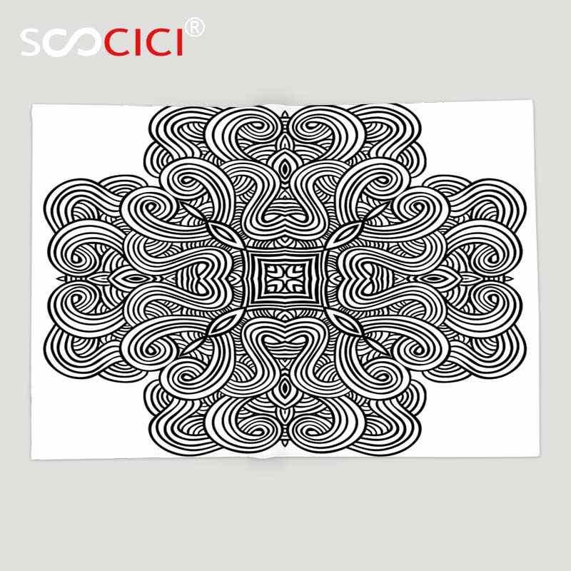 Manta de lana suave personalizada decoración celta diseño heráldico rotativo celta medieval con forma cuadrada en el centro Retro