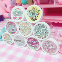48Pcs Waterproof Round Slime Sticker Containers Storage Box Supplies DIY Accessories Bottle Decoration