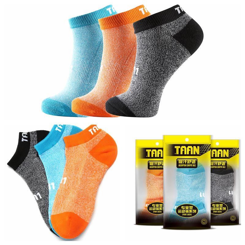 1 Pair TAAN Men's Ankle Sock Skidproof Badminton Tennis Sports Sock Thick Cotton Socks T-352