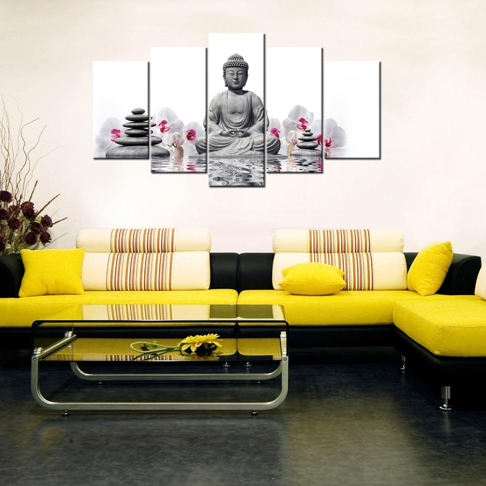 Contemporary Wall Decor Buddha Statue HD Print On Canvas Home Decor ...