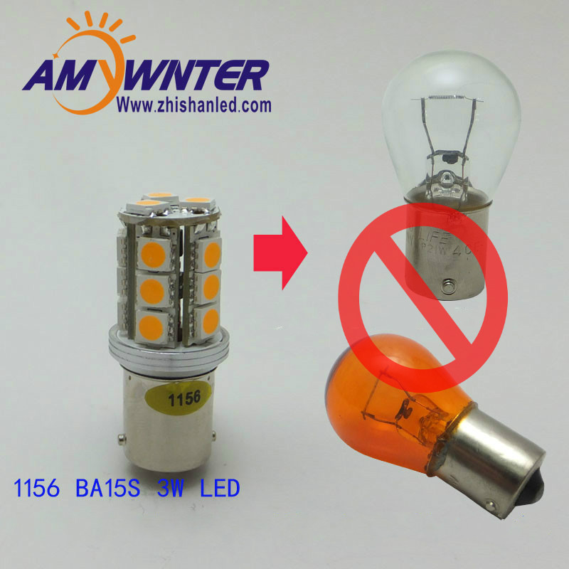 BA15S P21W S25 3W 1156 LED Steering light Car Tail Bulb car Turn signal auto Reverse Lamp Daytime Running Light  Yellow PY21W купить