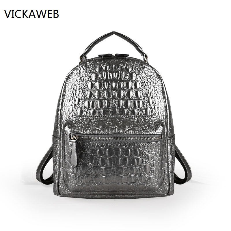 crocodile pattern women backpack leather shoulder bags famous brand backpacks small real leather ladies bag new hot european style women crocodile pattern doctor women backpack 2017 famous hasp belt bags women s pu leather rucksack bag