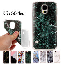 SM-G900F SM-G900H Cover Graniet Marmer Effect Soft Silicon Case Cover voor Samsung Galaxy S5 S5 Neo Case TPU Capa Funda WeeYRN(China)