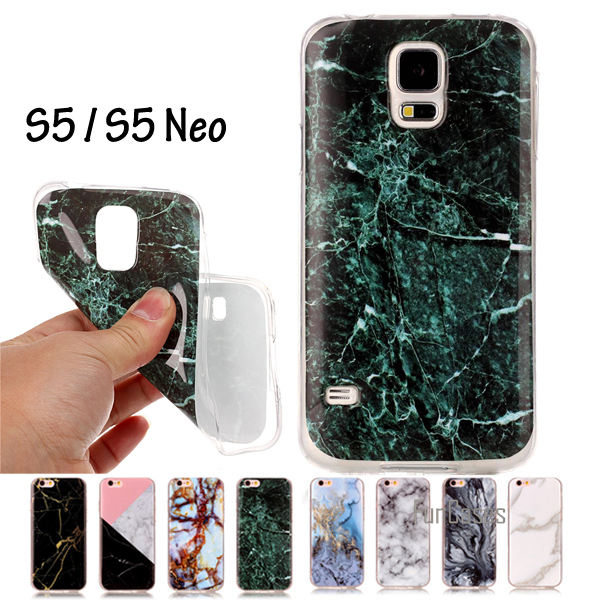 SM-G900F SM-G900H Cover Granite Marble Effect Soft Silicon Case Cover For Samsung Galaxy S5 S5 Neo Case TPU Capa Funda WeeYRN