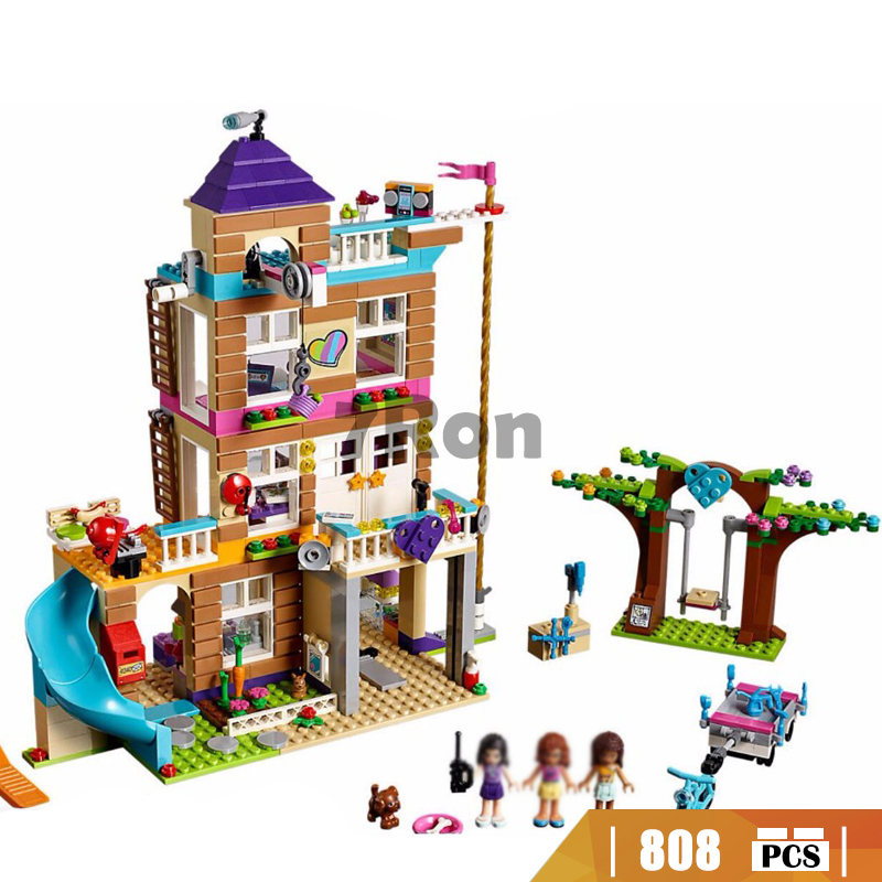 Bela 10859 Toys 808Pcs Girls Friend Series The Friendship House Set Building Blocks Bricks Kids Gifts Compatible With lego 41340 808pcs diy new girls series the friendship house set building blocks bricks friends toys for children compatible legoingly 41340