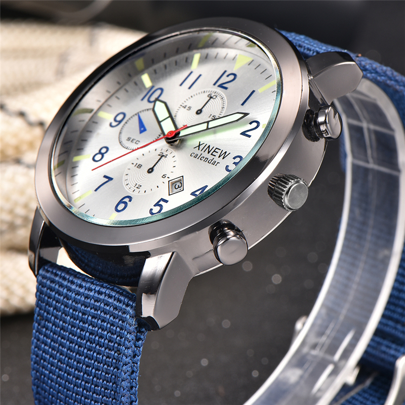 Fashion Casual Nylon Military Watches Men Simple Sports Digital Quartz-Watch Back Light Calendar Male Clock 2016 Wrist Watch weide new men quartz casual watch army military sports watch waterproof back light men watches alarm clock multiple time zone