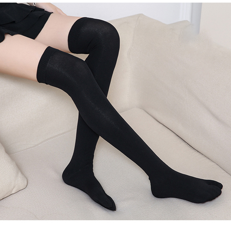 1 Pair Tabi Sports Stockings Women Nylon Compression Tight Long Socks Over Knee High 2-Toe Stocking For Female US 5-7.5