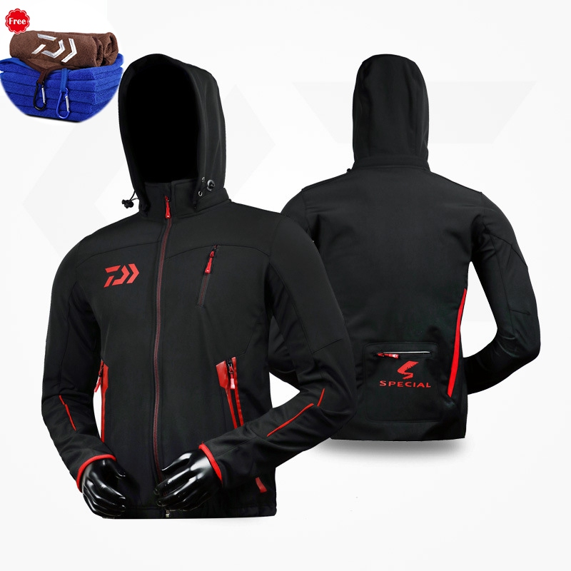 Fishing Clothes Men Parka Plus Velvet Autumn And Winter Keep Warm Waterproof Soft Shell Fishing Clothing Jacket And Pants Suit mens winter sea fishing clothes one piece suit floating life saving fishing clothing ykk zipper lifesaving whistle fly fishing