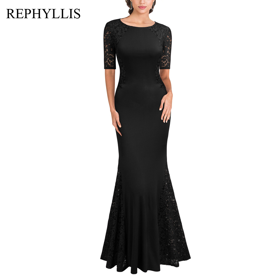Elegant Lace Sleeve Short Wedding Dresses 2016 Scoop Neck: REPHYLLIS Women Evening Vestidos Short Sleeve Scoop Neck