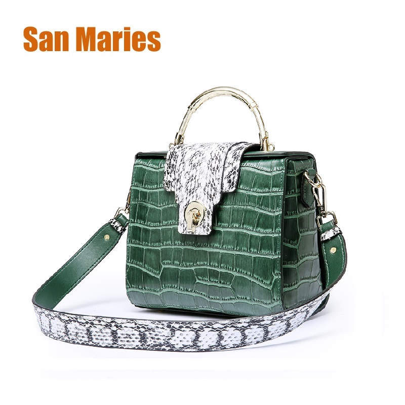 San Maries Shell Bags Women Cow Leather Handbags Fashion Sequined Bolsa Feminina Shoulder Bags Ladies Totes Bag Sac A Main kadell brand luxury women leather handbags bolsa feminina large capacity elegant ladies shoulder bag for business paty totes