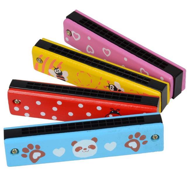 EducationaSwan Harmonica 16 Holes Hooter Bugle Educational Toy Gift For Kids D50