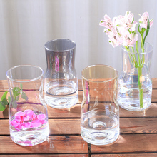 Modern Glass vase Multi-Color Transparent glass terrarium flower wedding table decorations Crafts Small vases home decor