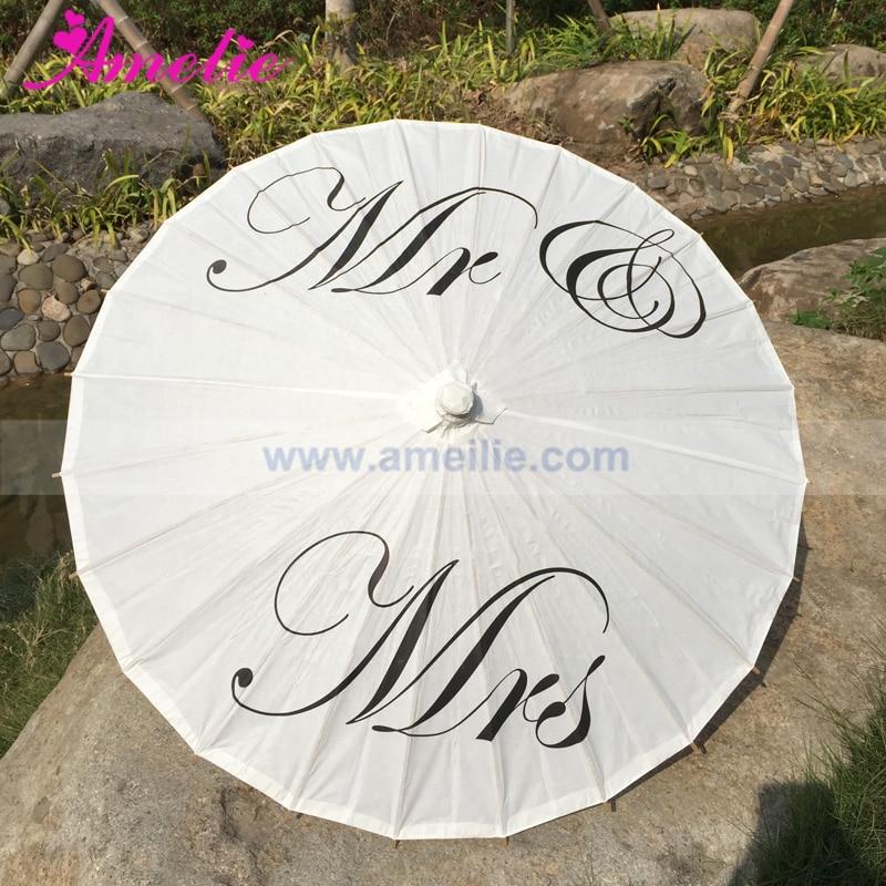 Image 3 - Free Shipping Wedding Personalized Custom Mr and Mrs Parasol Printed Bride Paper Wedding Umbrella Photo Prop Ceremonylace goldlace duvetlace veil -