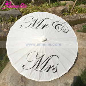 Image 3 - Free Shipping Wedding Personalized Custom Mr and Mrs Parasol Printed Bride Paper Wedding Umbrella Photo Prop Ceremony