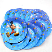 HOT 10pcs/set 7inch Mickey Mouse Plate Children Party Supplies Theme Kids Funny Hot Birthday Party Decoration(China)