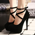 2017 sexy women pumps red bottom high heels platform shoes ladies wedding shoes bride  chaussure femme talon big size 12cm heels