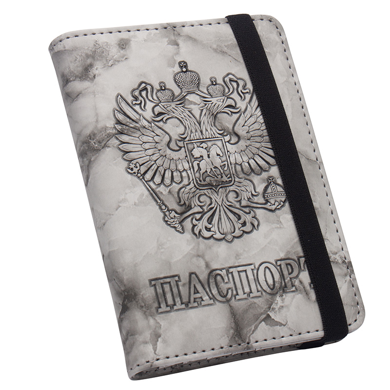 Coin Purses & Holders Russian Oil Soft And Solid Brown Double Eagle Travel Passport Holder Built In Rfid Blocking Protect Personal Information To Rank First Among Similar Products