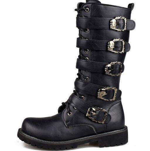 Tall Boots bulk British retro fashion stage performances commando boots male army US6-11