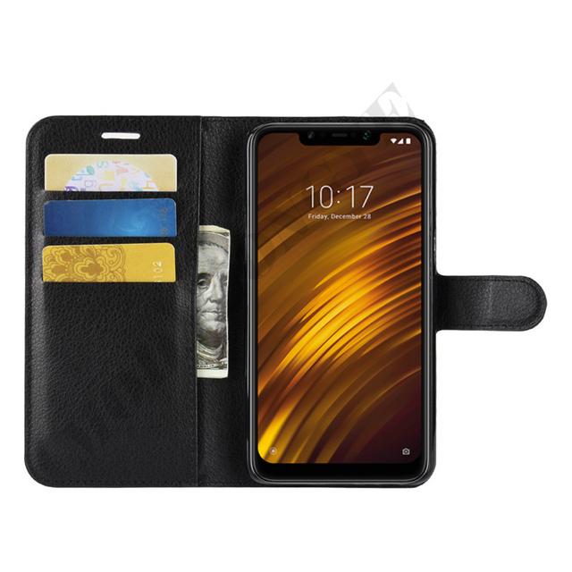 Xiaomi Pocophone F1 Case Flip Luxury PU Leather Cover Phone Case For Xiomi Xiaomi Pocophone F1 Poco F1 PocophoneF1 F 1 Case 6.18