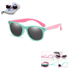 With Bag Rubber TR90 Children  Polarized Sunglasses Kids sunglasses polaroid sun glasses For Girls Boys Baby Glasses eyewear