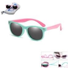 With Bag Rubber TR90 Children Polarized Sunglasses Kids sunglasses
