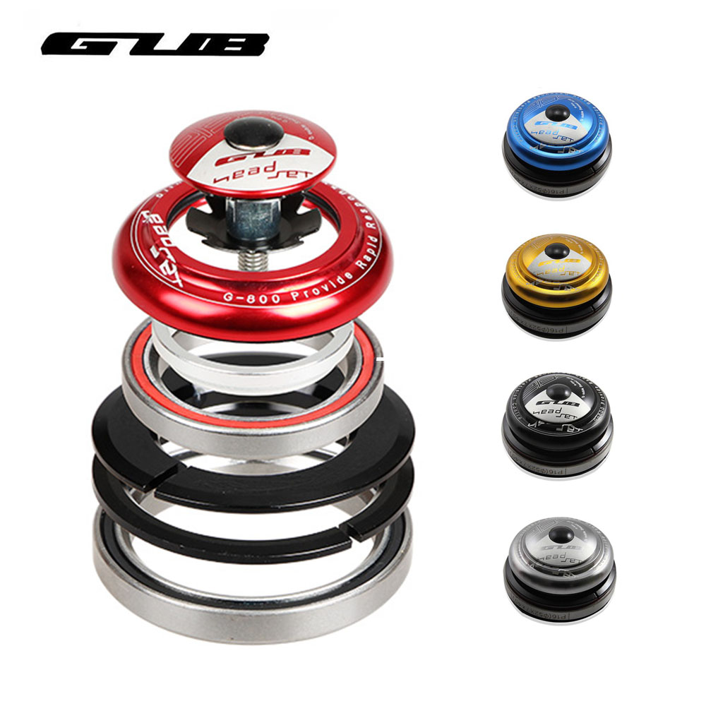 Bicycle Headset Mountain Bike Sealed Bearing Headset Cycling Wrist Tapered Group Bowl Group Bicycle Parts Gub G-800 Free Ship
