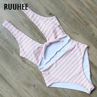 RUUHEE Swimwear Women One Piece Swimsuit Striped Bodysuit 2017 Brand Bathing Suit Monokini Swimming Suit Maillot