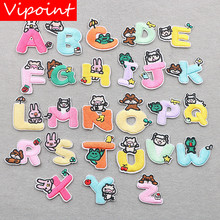 VIPOINT embroidery alphabet patches letter badges applique for clothing XW-21