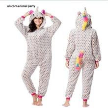 Kigurumi Onesies costumes Cosplay Cartoon Five-pointed star unicorn zipper Pajamas Costumes Sleepwear halloween Party